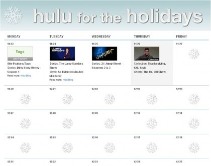 Hulu for the Holidays