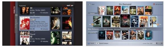 FiOS old VOD UI versus FiOS new VOD UI