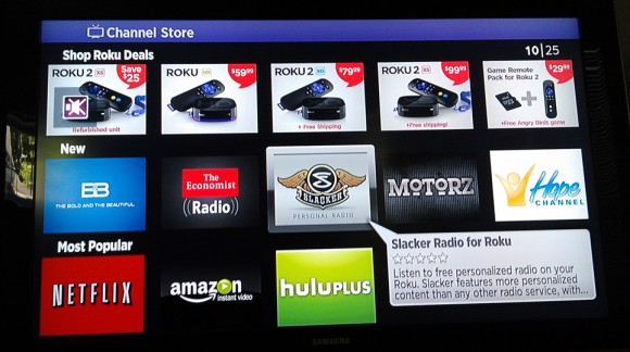 Slacker on Roku 1