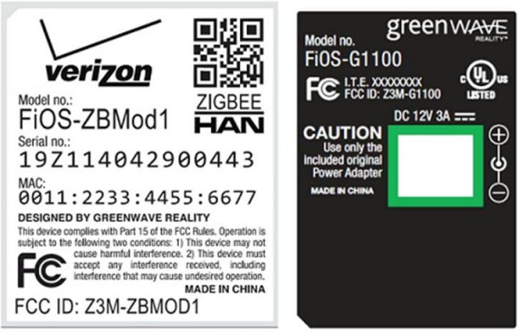 Verizon GreenWave FCC documentation